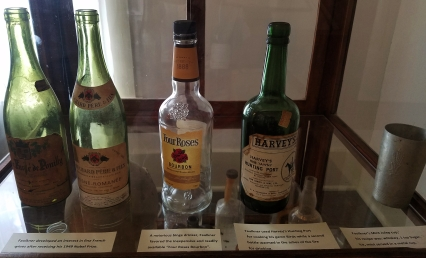 Bottled found across the home - some of Faulkner's favorite liquors.